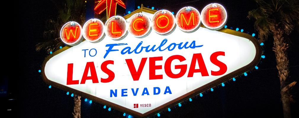Welkomstbord Las Vegas