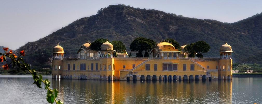 Jal Mahal (water paleis), Jaipur, India