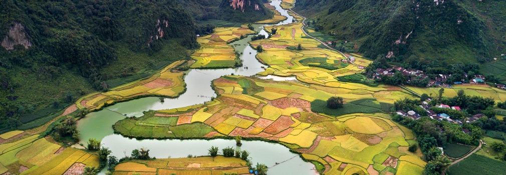 Meanderend door het Vietnamese landschap